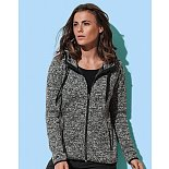 Dámská mikina Active Knit Fleece ST5950, Dark Grey Melange