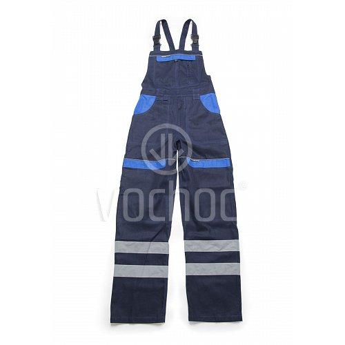 Reflexní montérkové pracovní kalhoty s laclem COOL TREND 175b9c29c7